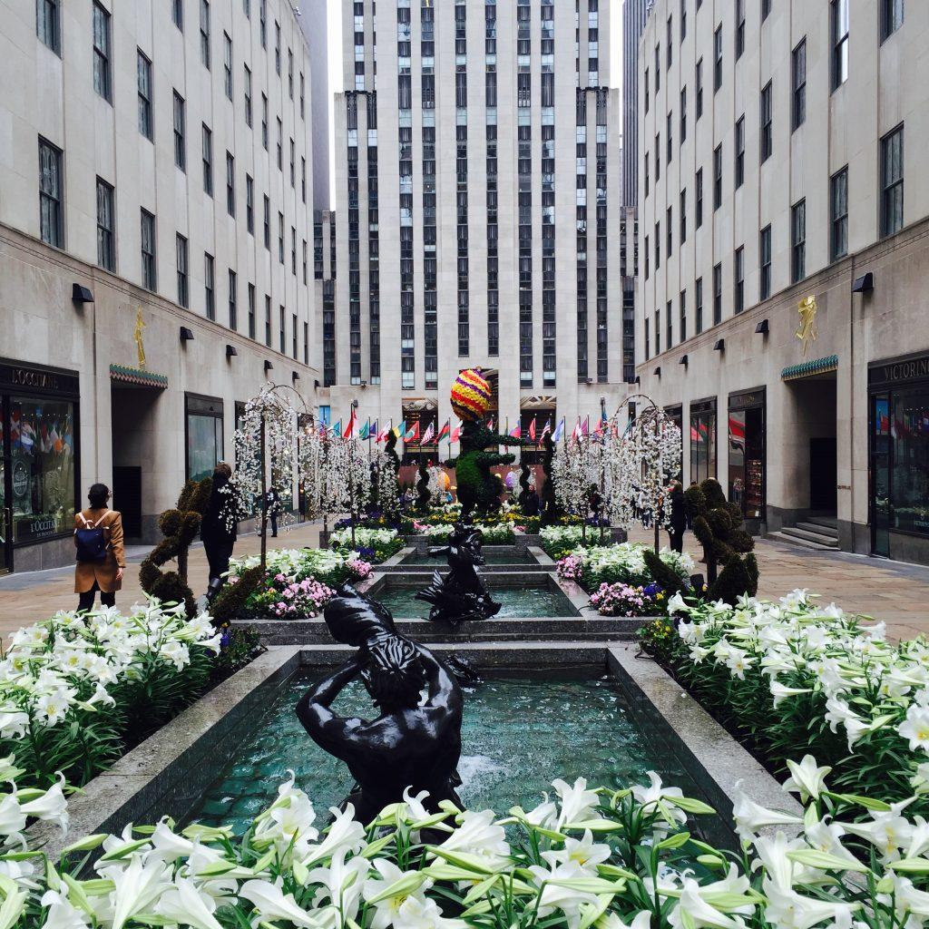 Rockefeller Center during Easter