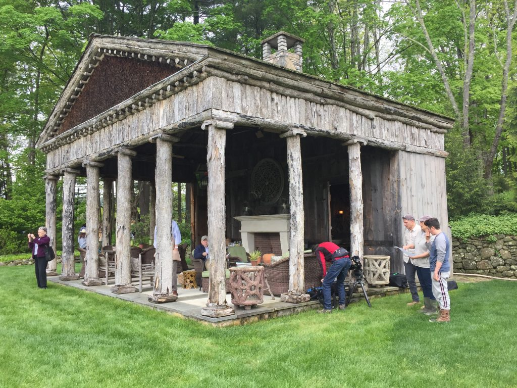 Greek Temple pool house at Trade Secrets garden show
