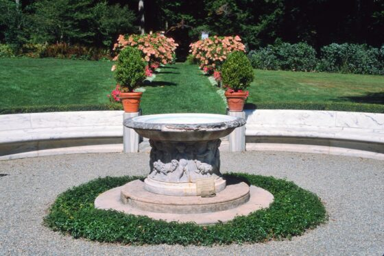 Chesterwood gardens fountain