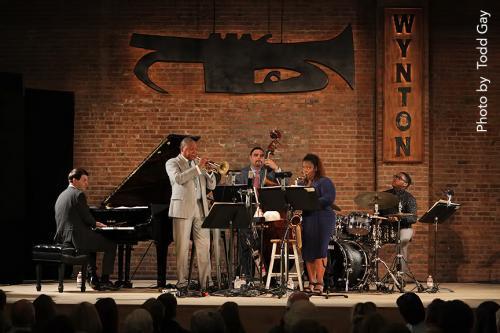 Wynton Marsalis performs